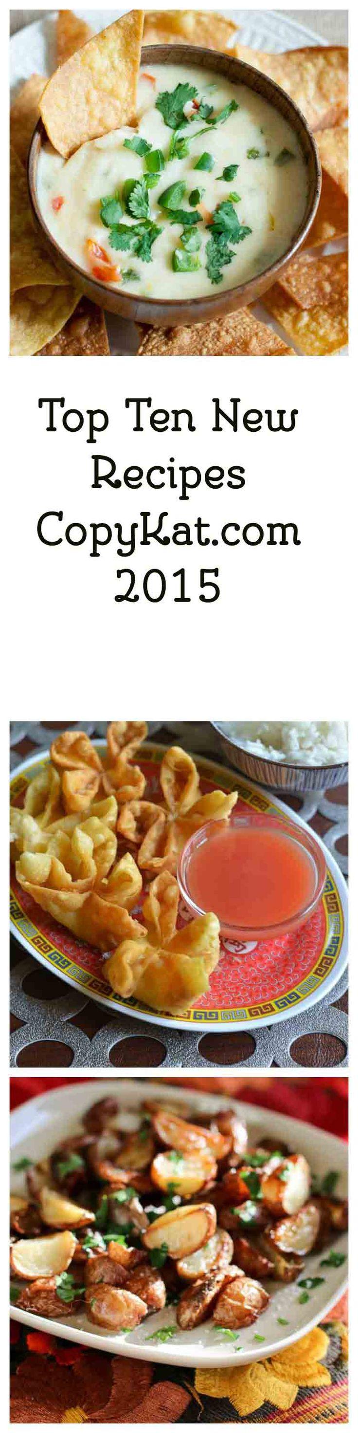 Top 10 New Recipes CopyKat.com 2015