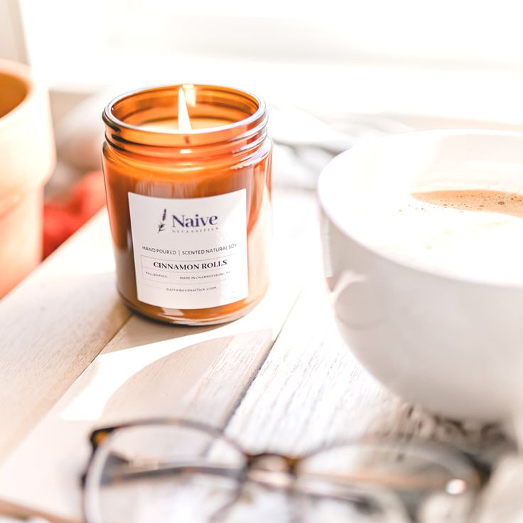 Cinnamon rolls soy candle strong scented candles