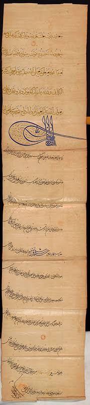 Kanunî Sultan Süleyman Han'ın Fransa Kralı'na yazdığı mektup...  Ben ki hakanlar hakanı, sen ki Fransa vilayeti kralı Fransuva'sın...