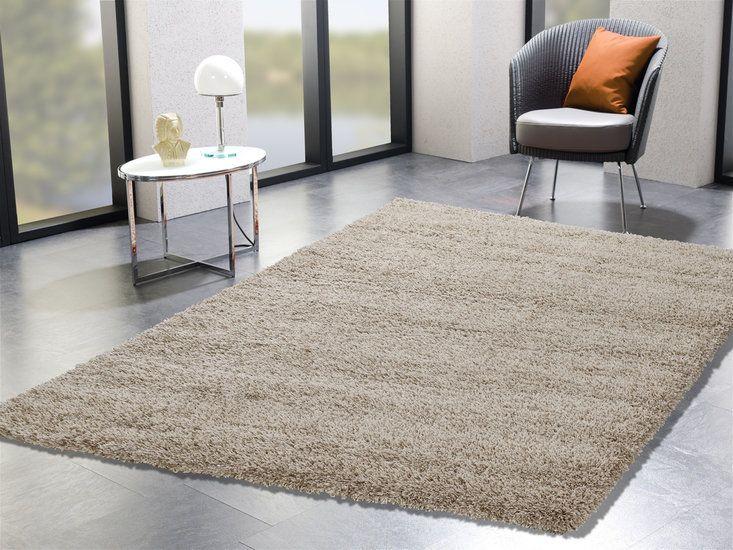 Hoogpolig effen - beige vloerkleed | Beige vloerkleden - vloerkleeddiscounter ook rond 2 meter 279,--