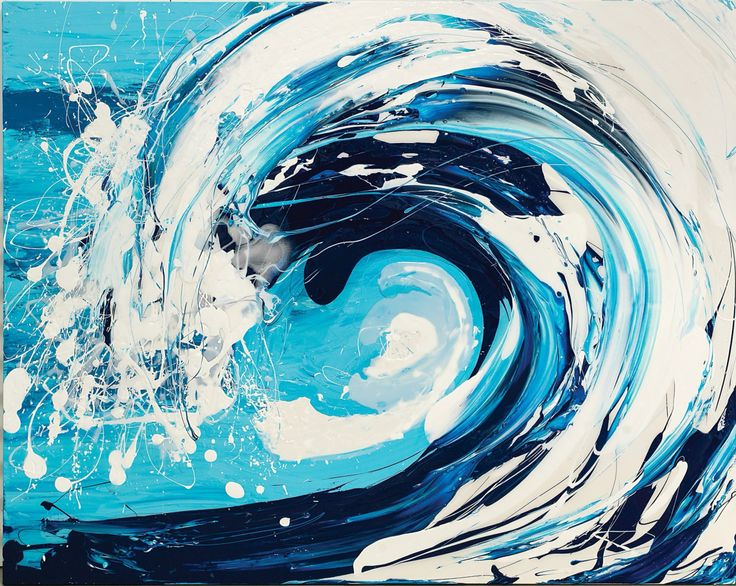 'Blue' Wave Series Annette Spinks Inspired by my love of the ocean.
