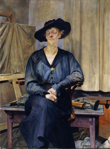 """Jacek Malczewski, """"Portret żony artysty"""", 1920, olej na płótnie, fot. Muzeum Okręgowe w Bydgoszczy"""