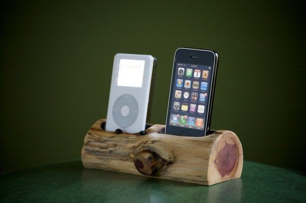 Log charging station