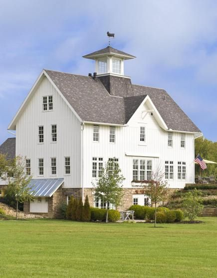 11 best bank barns images on pinterest bank barn barns for Country barn builders