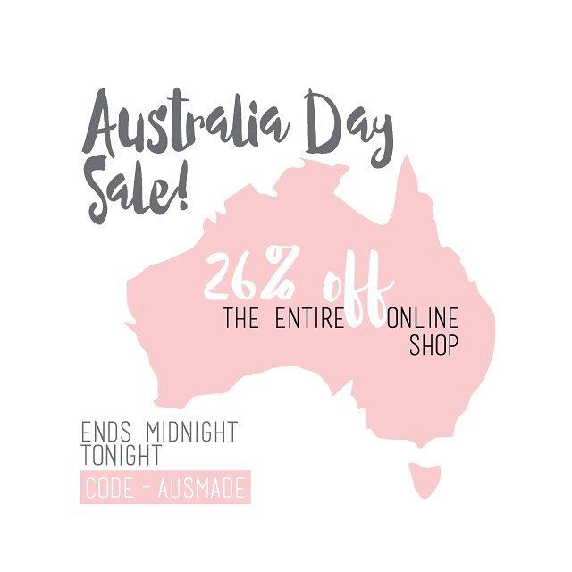 AUSSIE AUSSIE AUSSIE!!!! To Celebrate all things #australianmade We have take 26% off our ENTIRE online shop. Be quick because the sale ends Midnight TONIGHT! #australiaday #australian #aussieaussieaussie #sale #fashion #australianfashion #instafeed