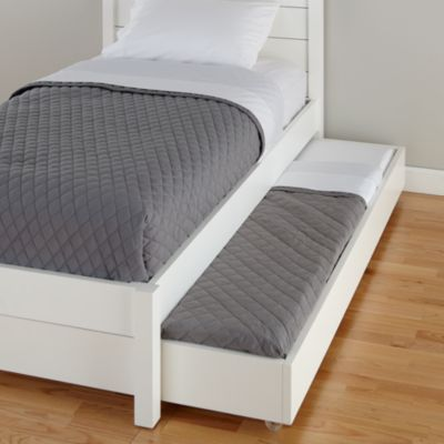 uptown trundle bed white