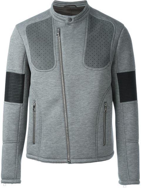Neil Barrett panelled biker jacket