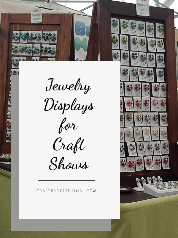 Click through for 11 fabulous jewelry booths. Make your own craft display rock with inspiration from these photos