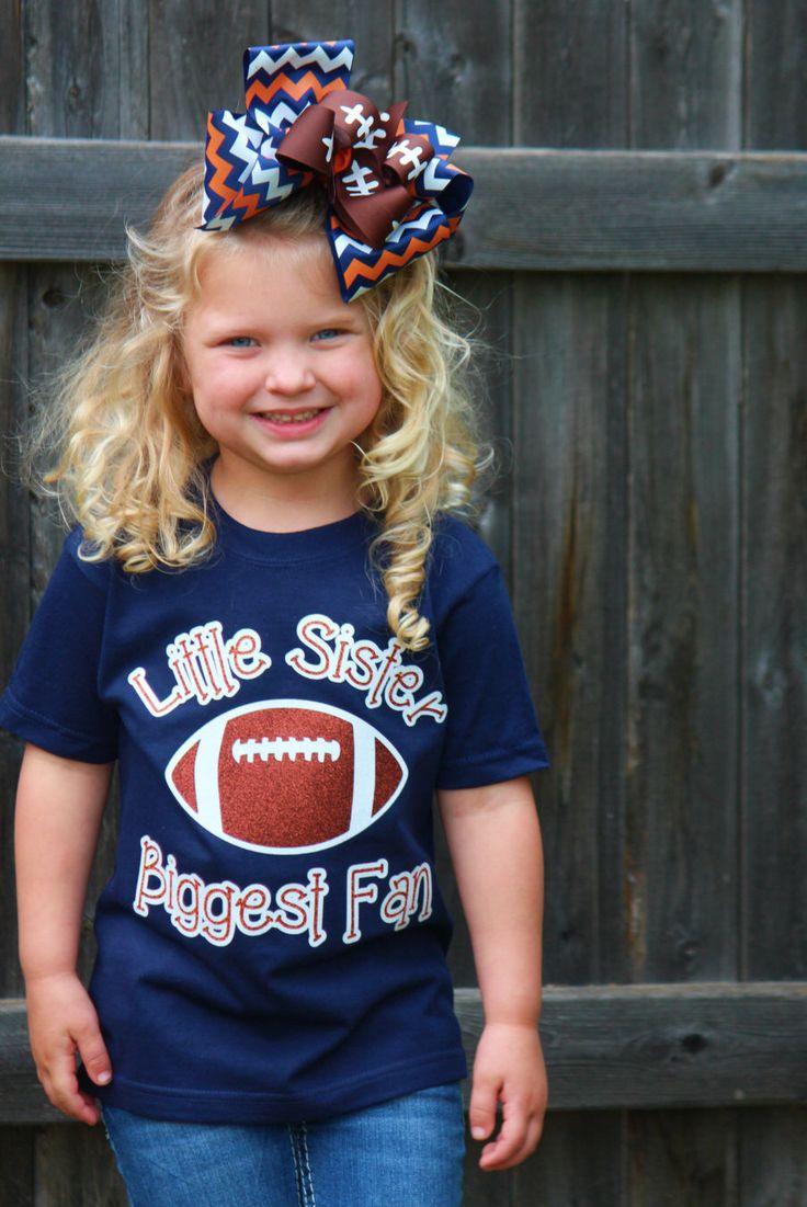 Little Sister Biggest Fan Football Spirit Tee by KaeCachet on Etsy https://www.etsy.com/listing/229682806/little-sister-biggest-fan-football
