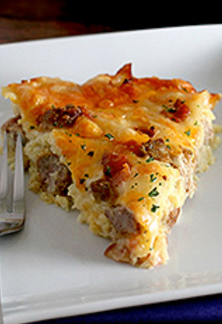 Amish Breakfast Casserole (convert meats to vegetarian substitutes)!  Looks yummy!