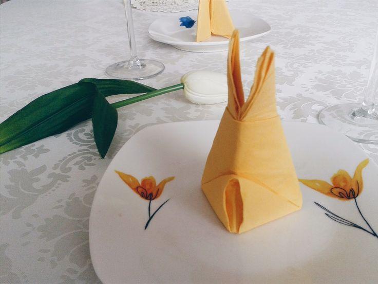 Serwetki w kształcie zająca DIY