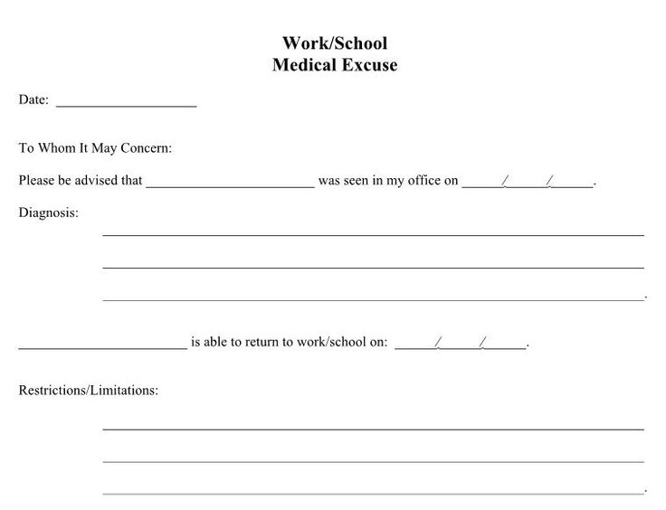 printable dr notes