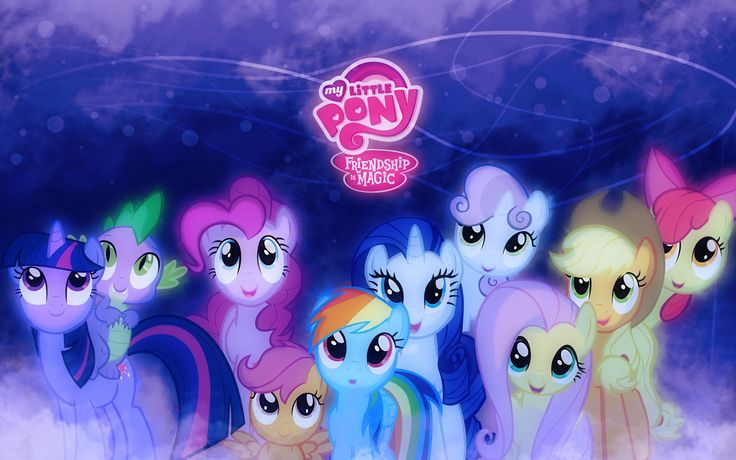 My Little Pony:Friendship is Magic - Twilight Sparkle, Spike, Pinkie Pie, Scootaloo, Rainbow Dash, Rarity, Sweetie Belle, Fluttershy, Applejack and Apple Bloom