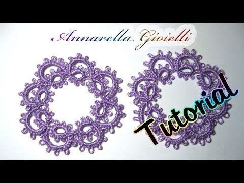Tutorial primi orecchini a chiacchierino | How to needle tatting earrings - YouTube