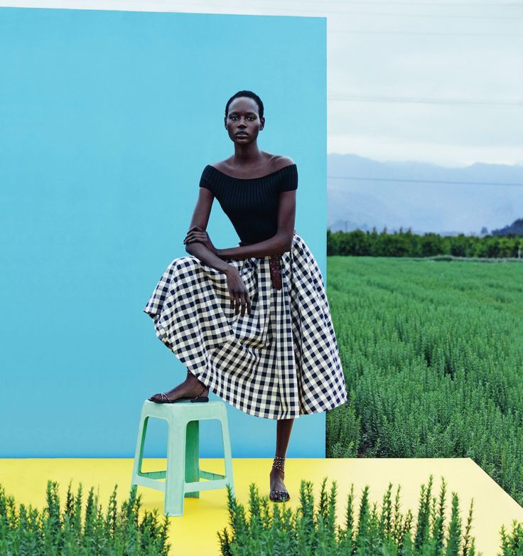 "alexandermckween: ""Ajak Deng by Julia Noni for Neiman Marcus March 2015 """