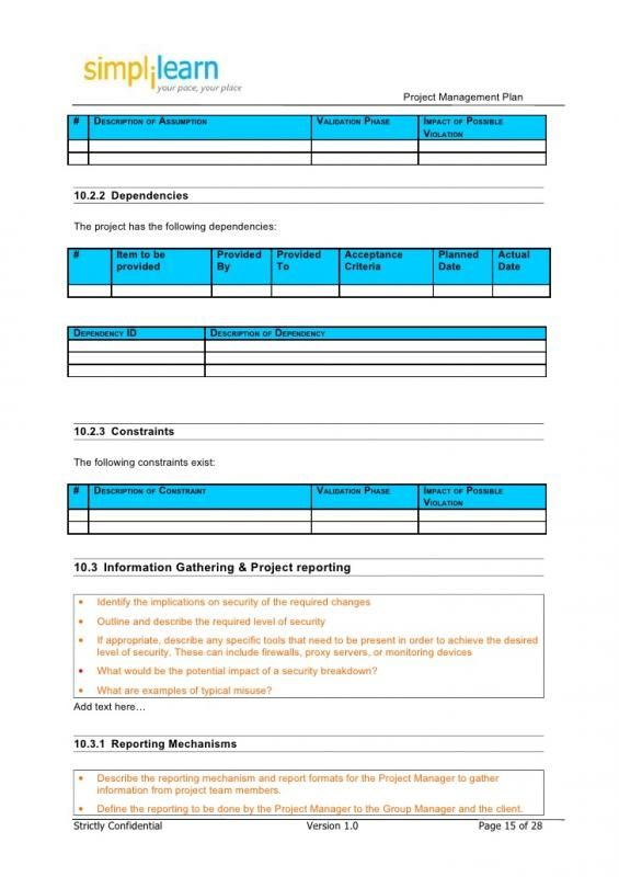 Project Outline Template Check more at