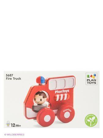 PLAN TOYS Пожарная машина  — 1080р. ---------------------------- Яркая деревянная Пожарная машина с колесиками от Plan Toys понравится каждому малышу и станет хорошим подарком. Машинку удобно держать маленькими детским ручками для того, чтобы ребенок мог катать игрушку. Внутри -  фигурка человечка, который крутит головой при движении игрушки. При движении у пожарной машины также вращается сирена.