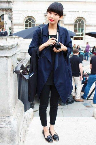 Yukary from Japan - Street Style at LFW spring/summer 2013