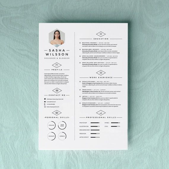 5 Page Resume Template Cv Template Pack Cover Letter For Word Icon Pack Instant Digital Download The Galerista Creative Cv Cv Design Lettering