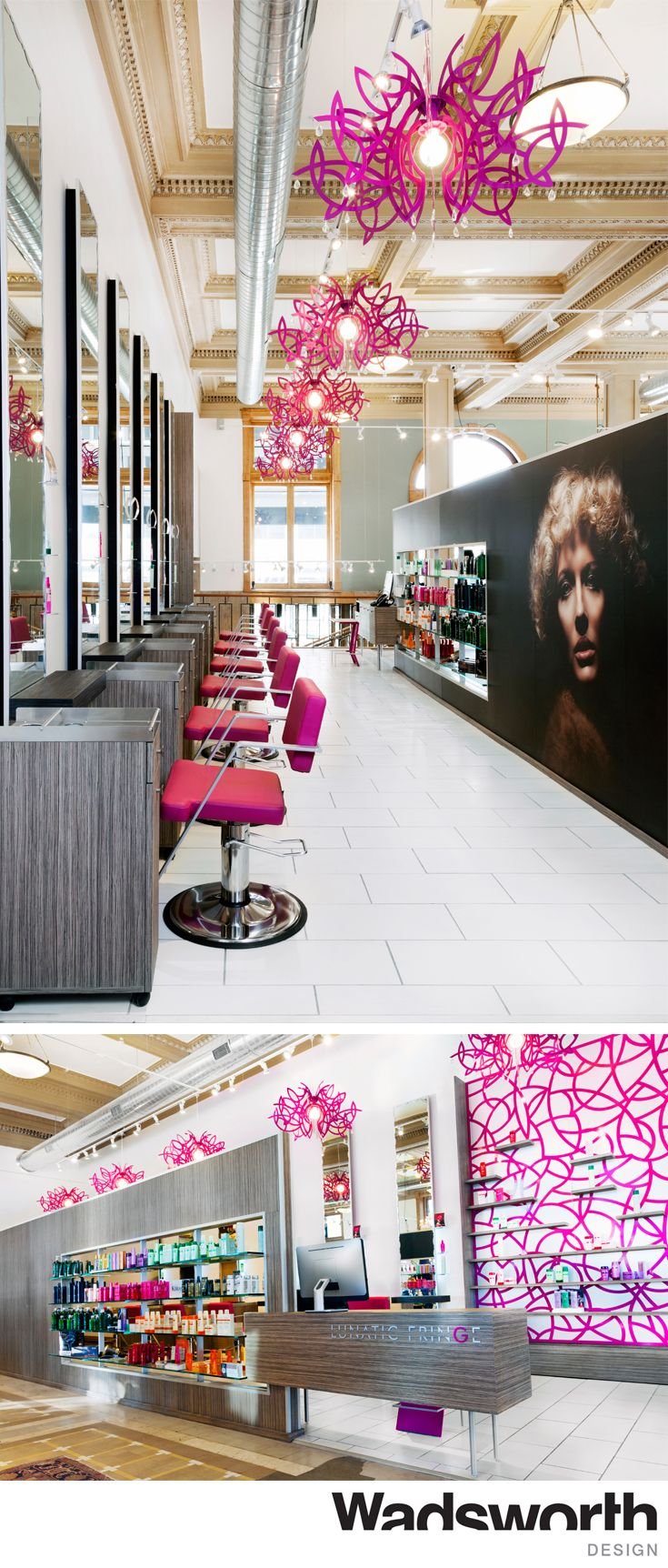 This bold  modern salon is part of fashion co op housed inside a historic    Salon InteriorSalon DesignSalon IdeasSalt Lake City. 16 best Wadsworth Salon Interiors images on Pinterest   Salon