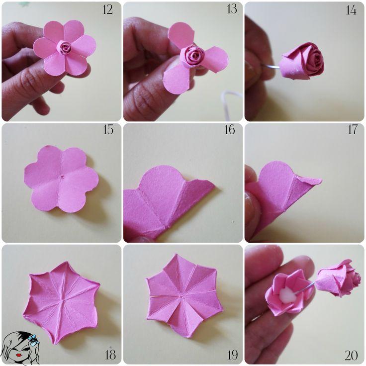 Como doblar el papel para hacer una flor de papel buscar - Www como hacer flores com ...