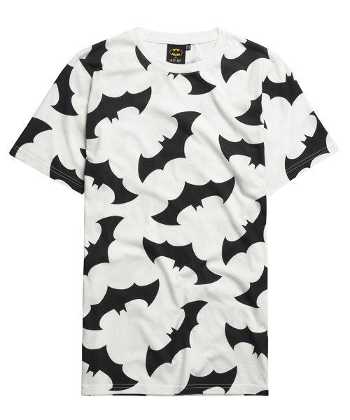 fashion, clothing, Lazy Oaf, tops, shirts, black, white, black and white, patterns, Batman, comics, comic books