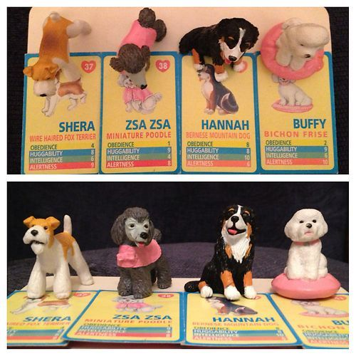 you might have had a few of these in your pocket. I had quite a few of these so I assume they were cheap from Woolies circa 1994/95, Puppy in my Pockets came with the little cards which you could sort of play like top trumps.