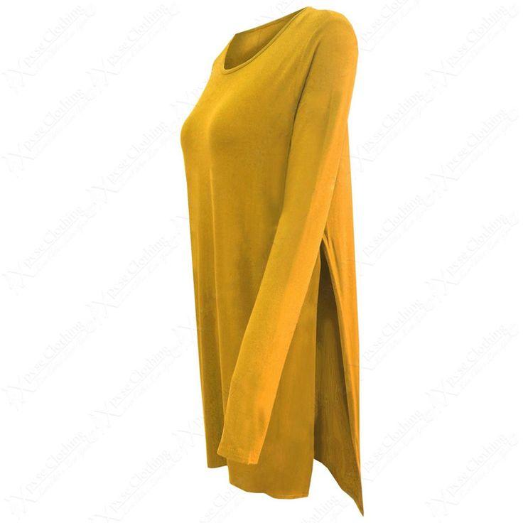 >> Click to Buy << Plus Size Women loose side split long T shirt O-neck long sleeve cozy t- shirts bacis Femininas European casual tops  #Affiliate