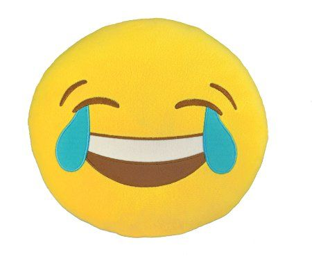 Kids Preferred I Luv Emoji Pillow, Joy, Small