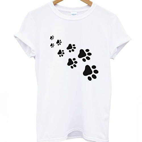 39cc7872f Meolin Simple Street Cartoon Funny Cat Paw Print T-shirt,White T black,2XL # clothing #tshirt #fashion