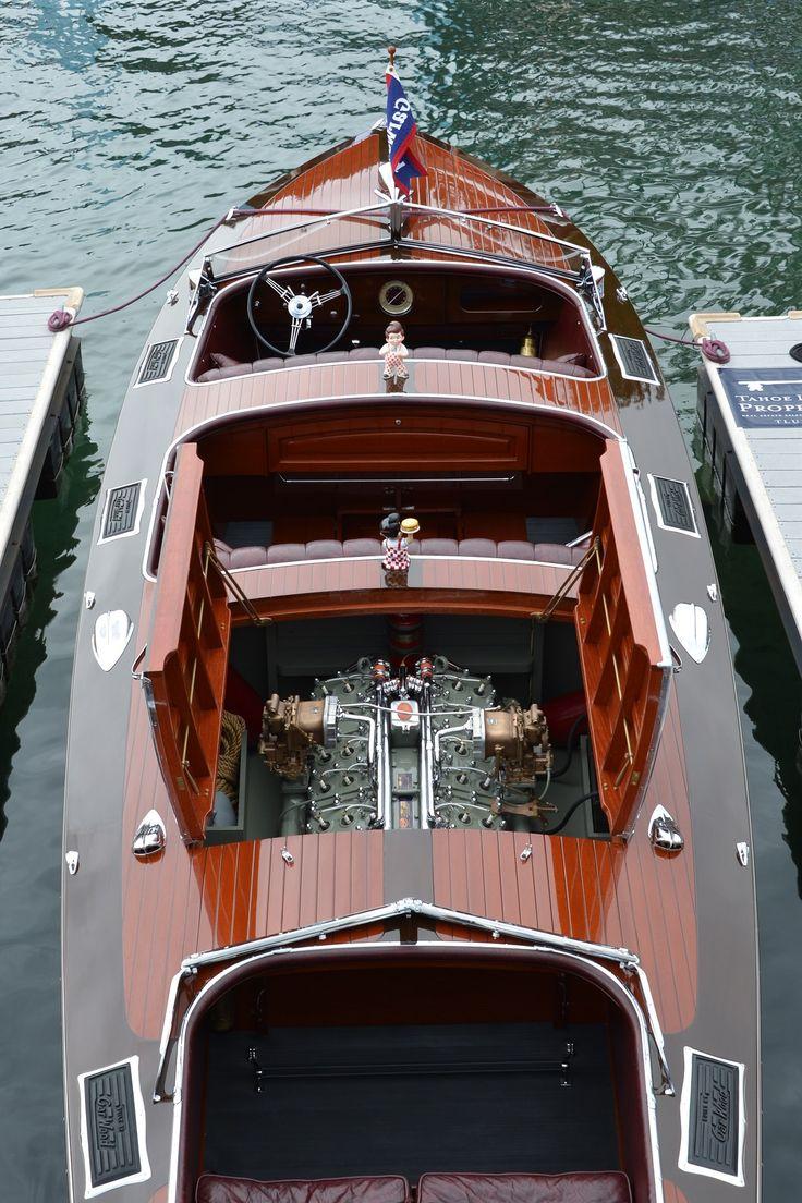 """""""Big Boy"""" (Scripps 302 316hp V-12) 1937 28' Gar Wood 746 Custom Runabout 316-hp., 12-cyl. Scripps 302 engine"""