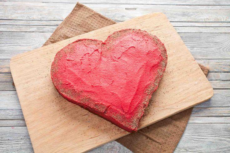 Tort w kształcie serca #smacznastrona #przepisytesco #tort #serce #walentynki #pycha