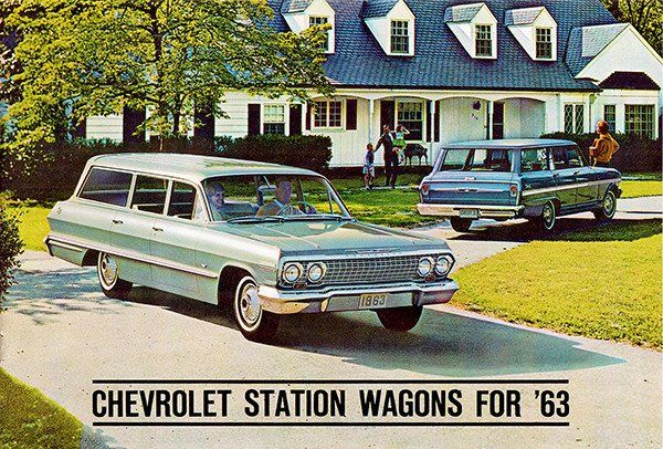 1963 Chevrolet Station Wagons - Promotional Advertising Poster