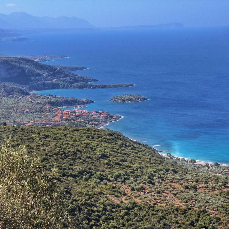 Panoramic view of Kardamyli in southern Peloponnese.