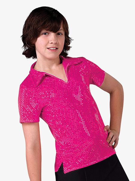cb1341e84 Boys Performance Sequin Dot Short Sleeve Top in 2019 | Costumes ...