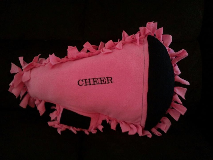 personalized cheerleading megaphone plush