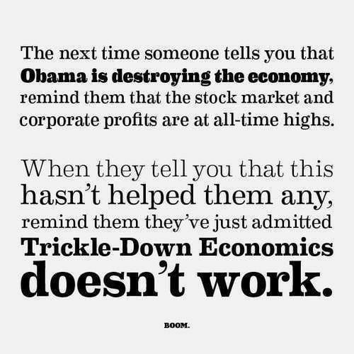 Ok, republicans, tell in what way supply side economics works?