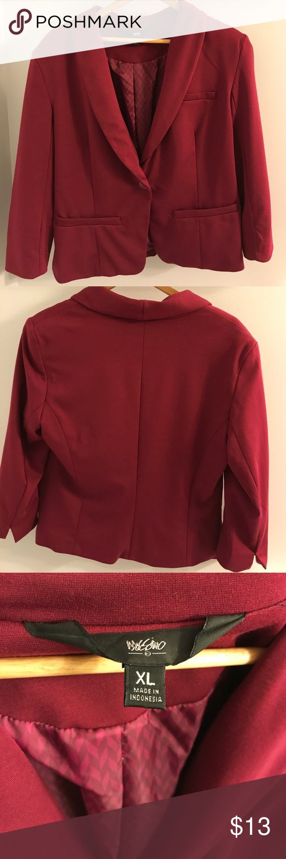 Mossimo Maroon Blazer & Tank. Great shape! Mossimo Blazer & Tank. Goes great together. Very soft material. Great condition! Mossimo Supply Co Jackets & Coats Blazers