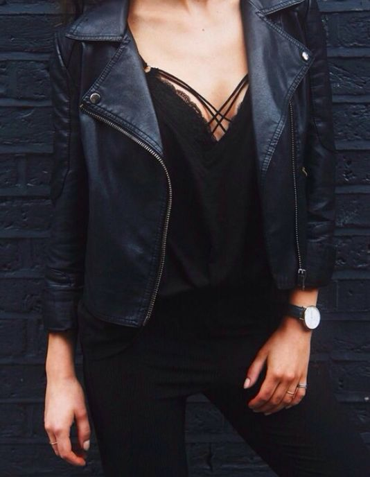 The Leather Jacket   An essential in every girls closet // Shop similar pieces on Effinshop.com xx