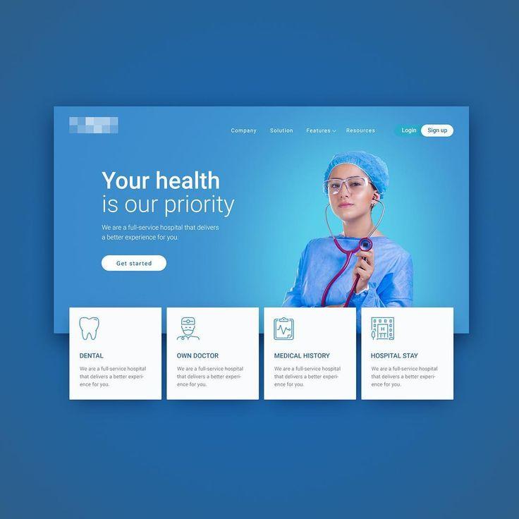 298 отметок «Нравится», 6 комментариев — UI / UX Designer (@web.vitalii) в Instagram: «Creating homepage for Medical service webpage...»