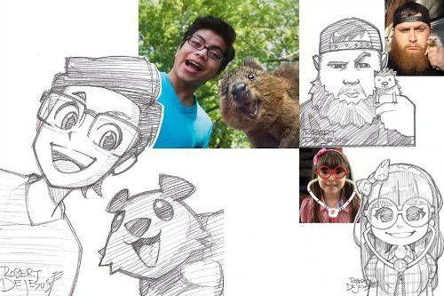 Robert DeJesus, l'artista che vi trasforma in un fumetto [FOTO]