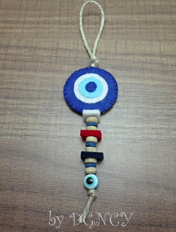 Felt evil eye bead ornamentEvil eye handmade by DGNCY on Etsy
