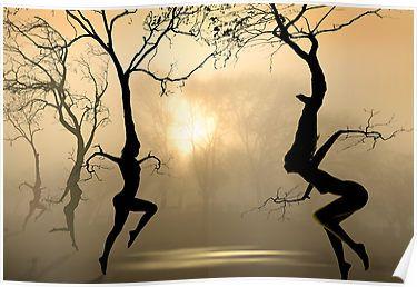 """Dancing Trees"" by Igor Zenin | Redbubble"