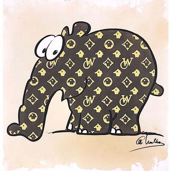 Otto Waalkes Otto Vuitton Handsigniert Galerie Hunold Otto Bilder Leinwand Graphik