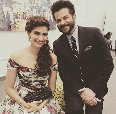 Sonam kapoor with dad Anil Kapoor