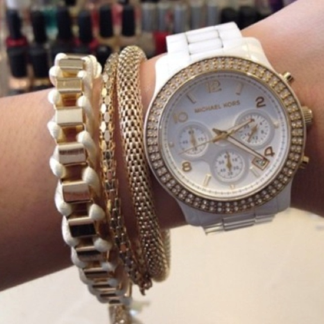 Arm candy X michael kors: Arm Candy, Michaelkor, Whitegold, Armcandi, Michael Kors Watches, Jewelry, Accessories, White Gold, Men Watches