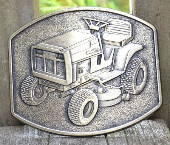 Simplicity Lawn Mower Belt Buckle by mikesantiquegarage on Etsy, $7.00