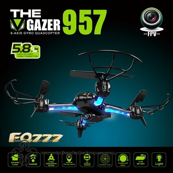 FQ777 AF957F 5.8G FPV With 2.0MP Camera One Key Return RC Quadcopter -- 101,15€