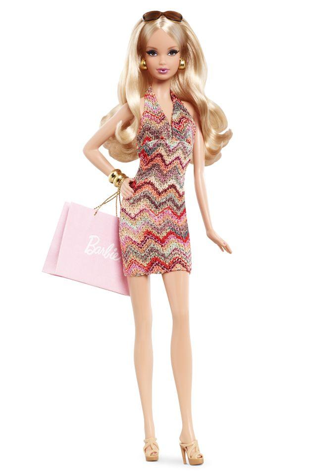 City Shopper Barbie Doll - Fashion Dolls - Product X8256   Barbie Collector. Looks like a Missoni dress.