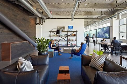 Dropbox's San Francisco Office | 22 Gorgeous Startup Offices You Wish You Worked In . Pillows!